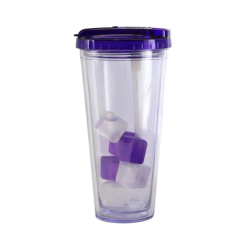 Vaso termico 20oz morado con hielo flip clasico ttu-u3755