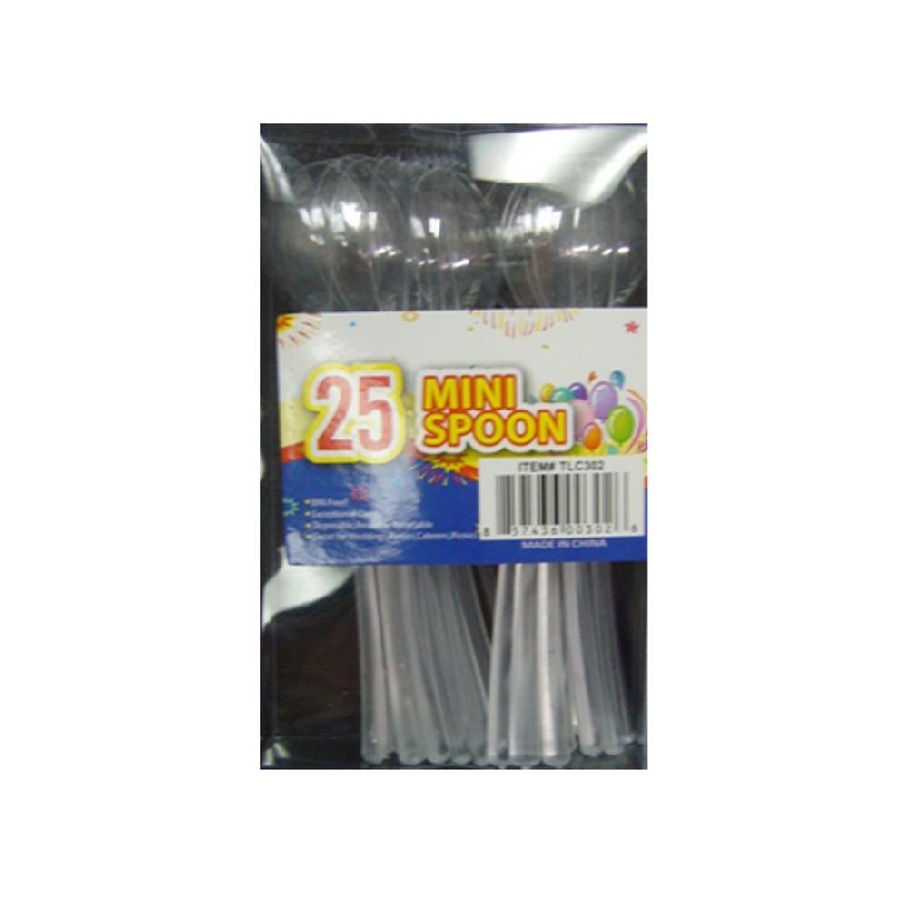 Set de mini cucharas para boquitas 25 pzas