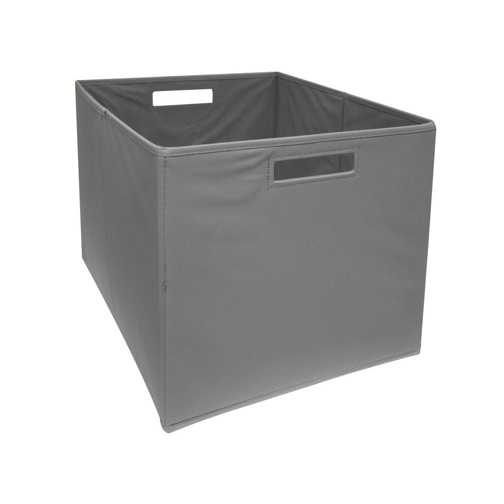 Caja organizadora de tela gris 345-39632612