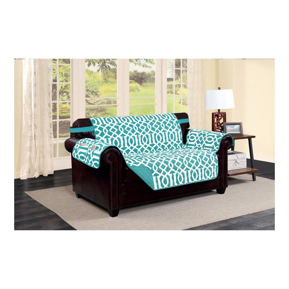 Cobertor para sofa reversible aqua 2 cuerpos