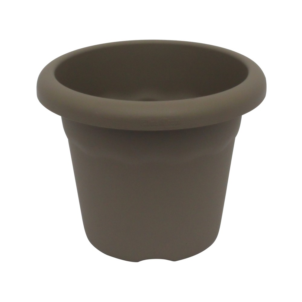 Maceta plástica redonda gris 22 cm