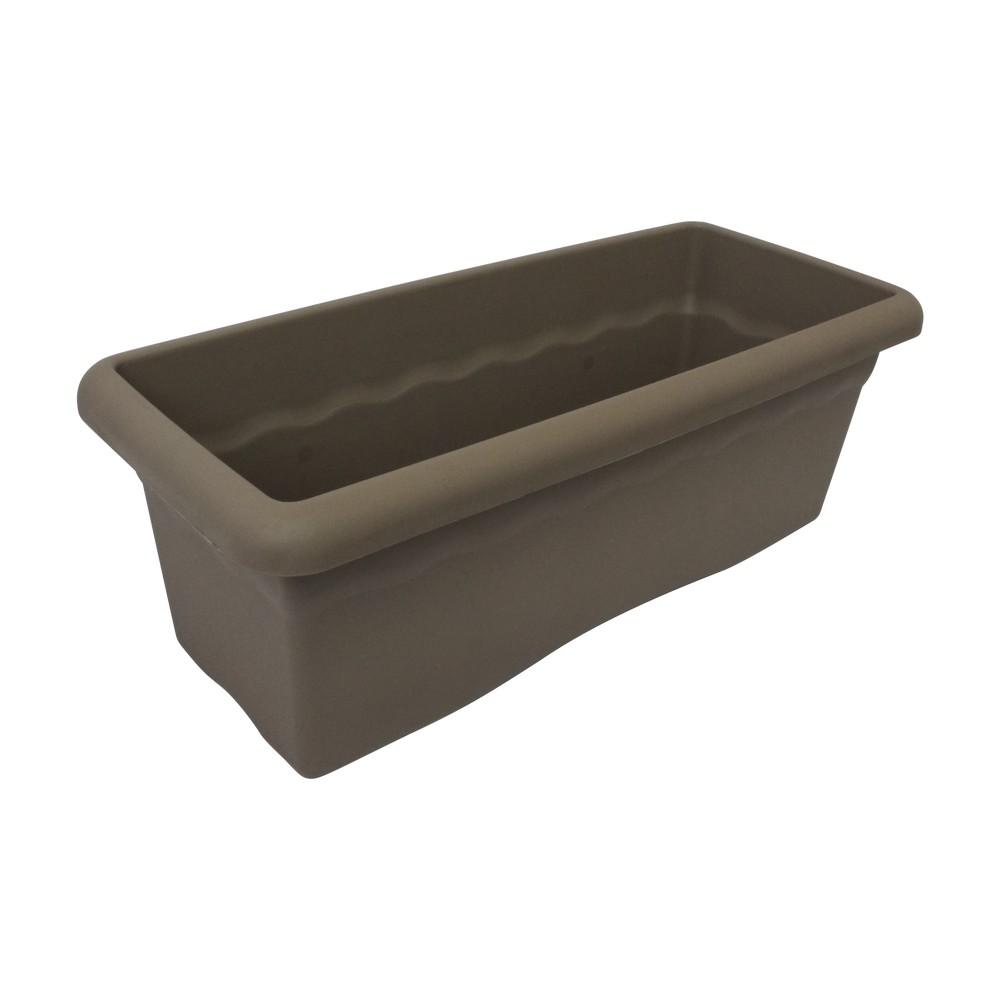 Maceta plástica rectangular gris 60x26 cm