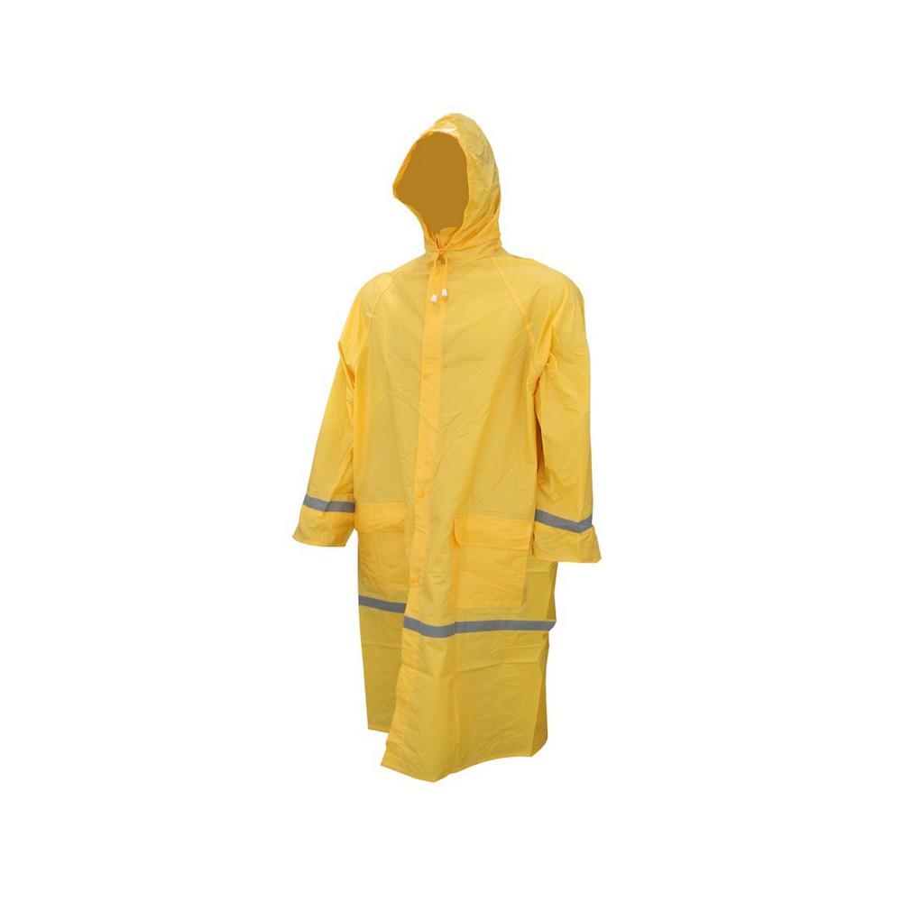 Capa para lluvia 1pza talla xl amarilla con cinta reflectiva