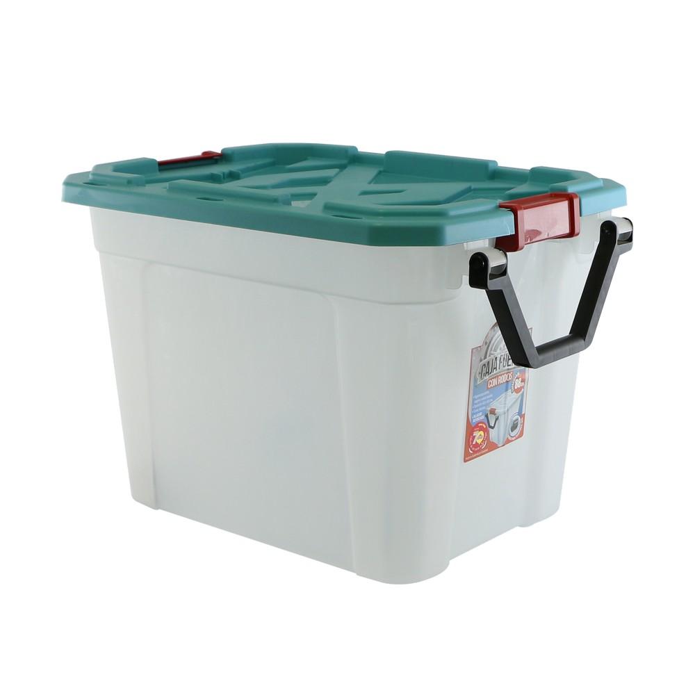 Caja organizadora plastica 88 l con rodos
