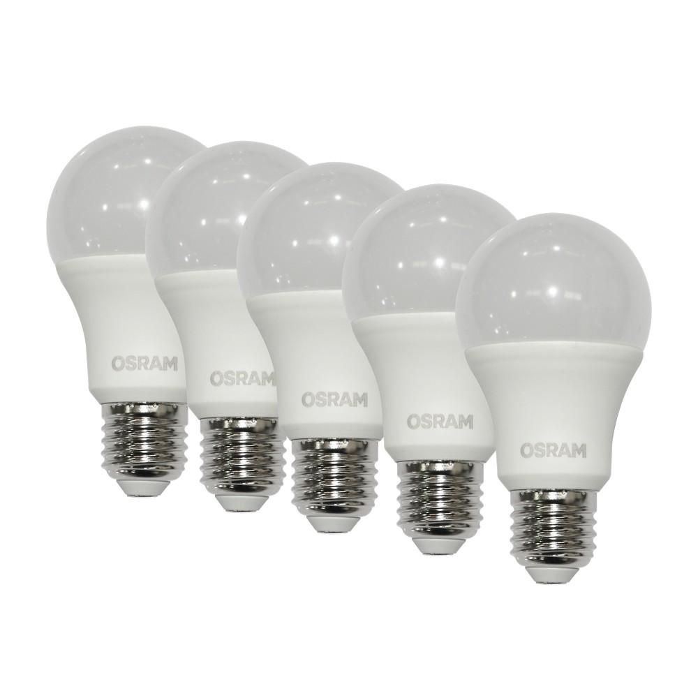 Foco led 8w e27 luz blanca set de 5 pzas