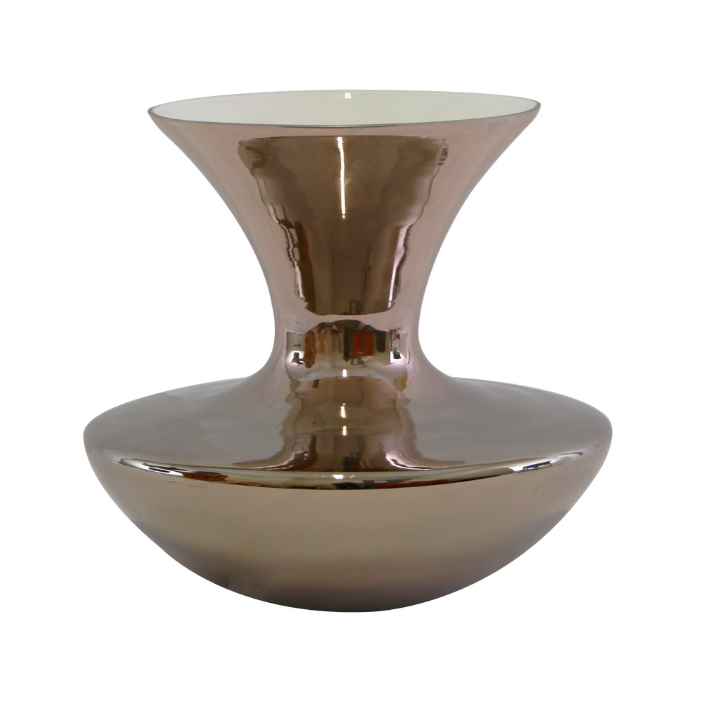Florero de vidrio 30cm rose gold 714-84773