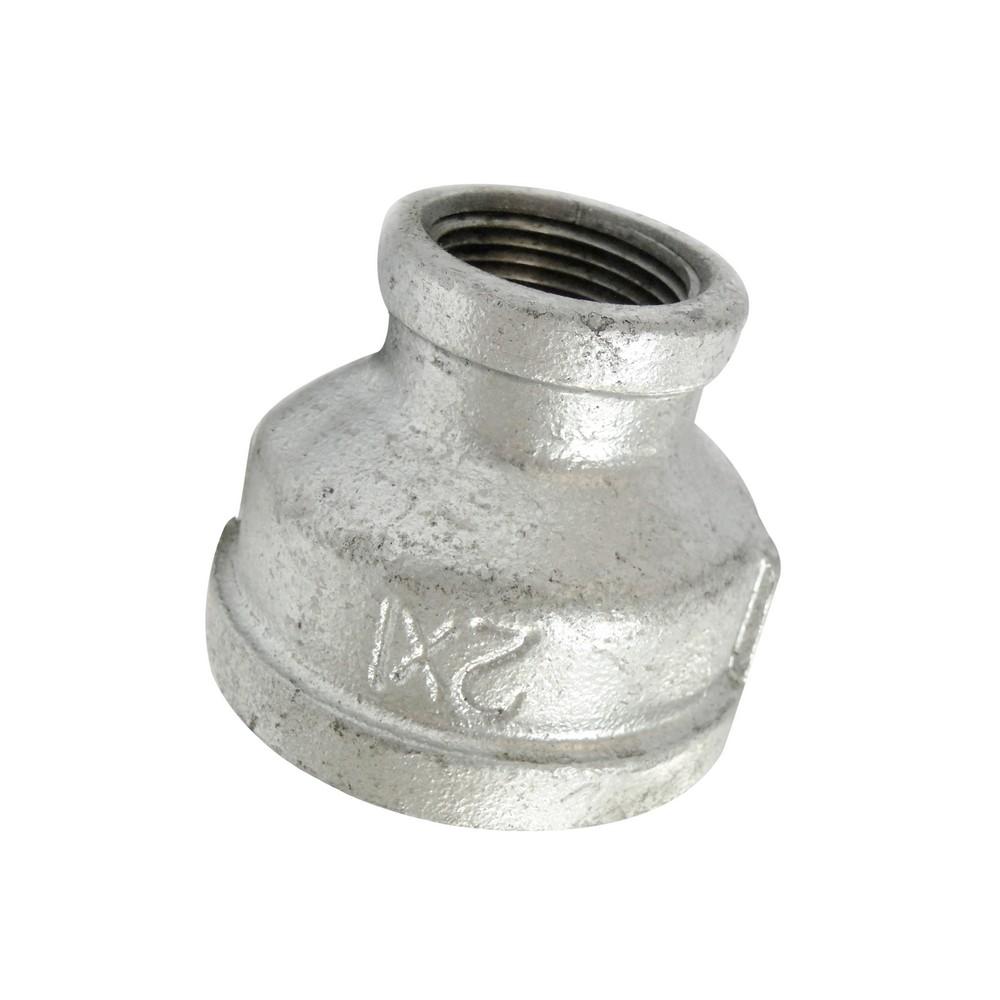 Reductor campana galvanizado 2 a 1 pulg