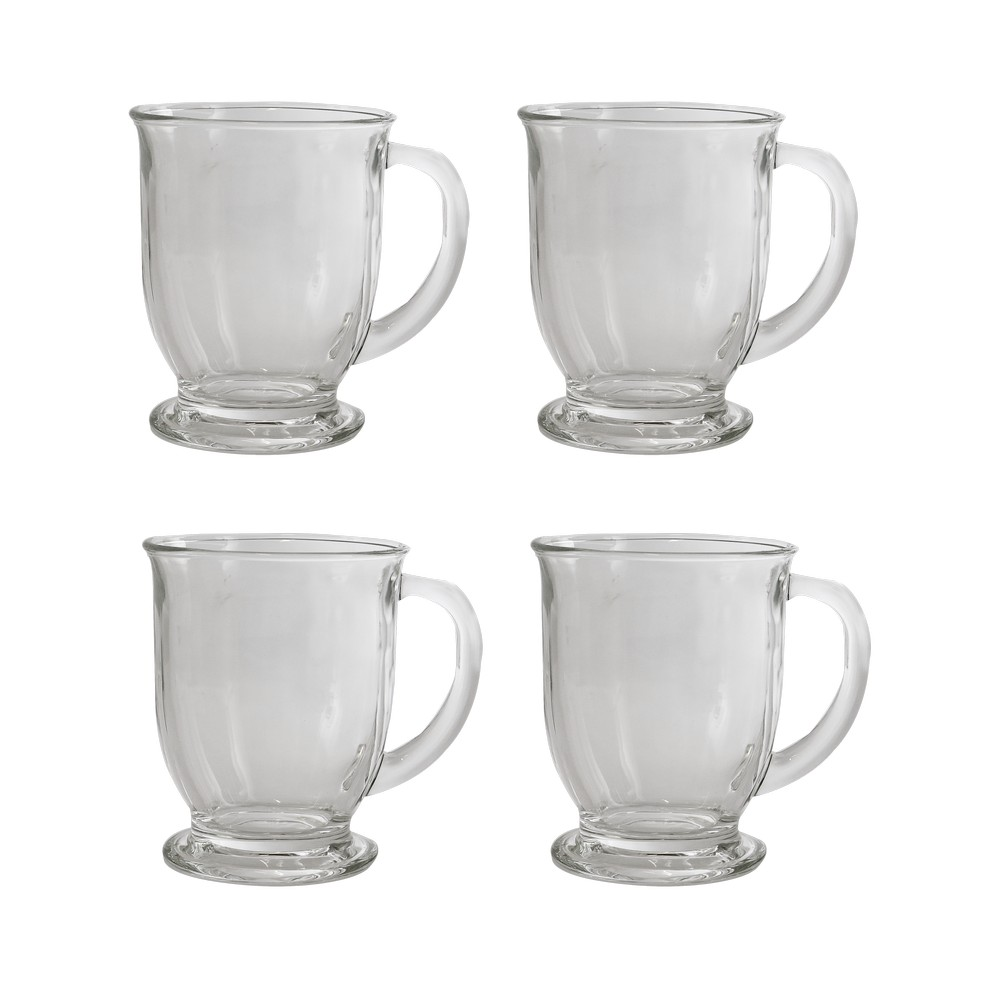Taza de vidrio para capuchino 16oz 55501 s/4