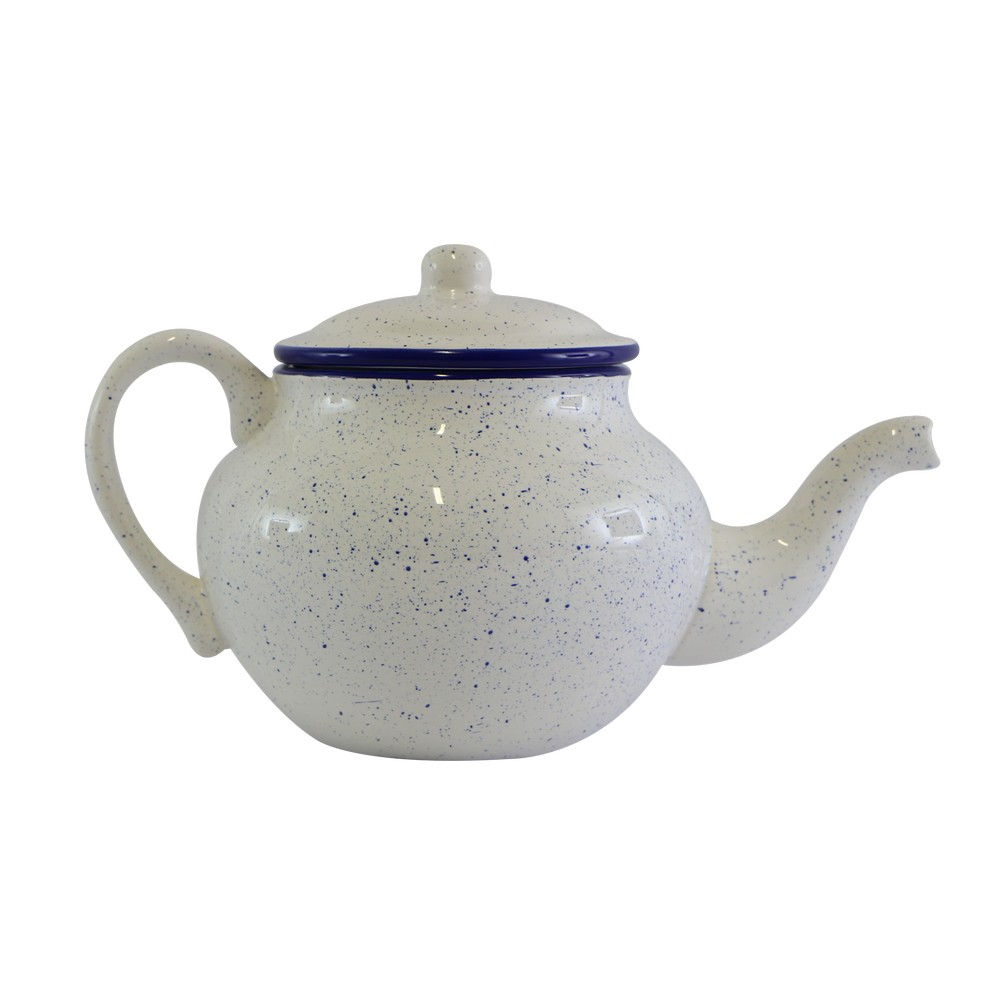 Tetera de ceramica detalles azules 34850