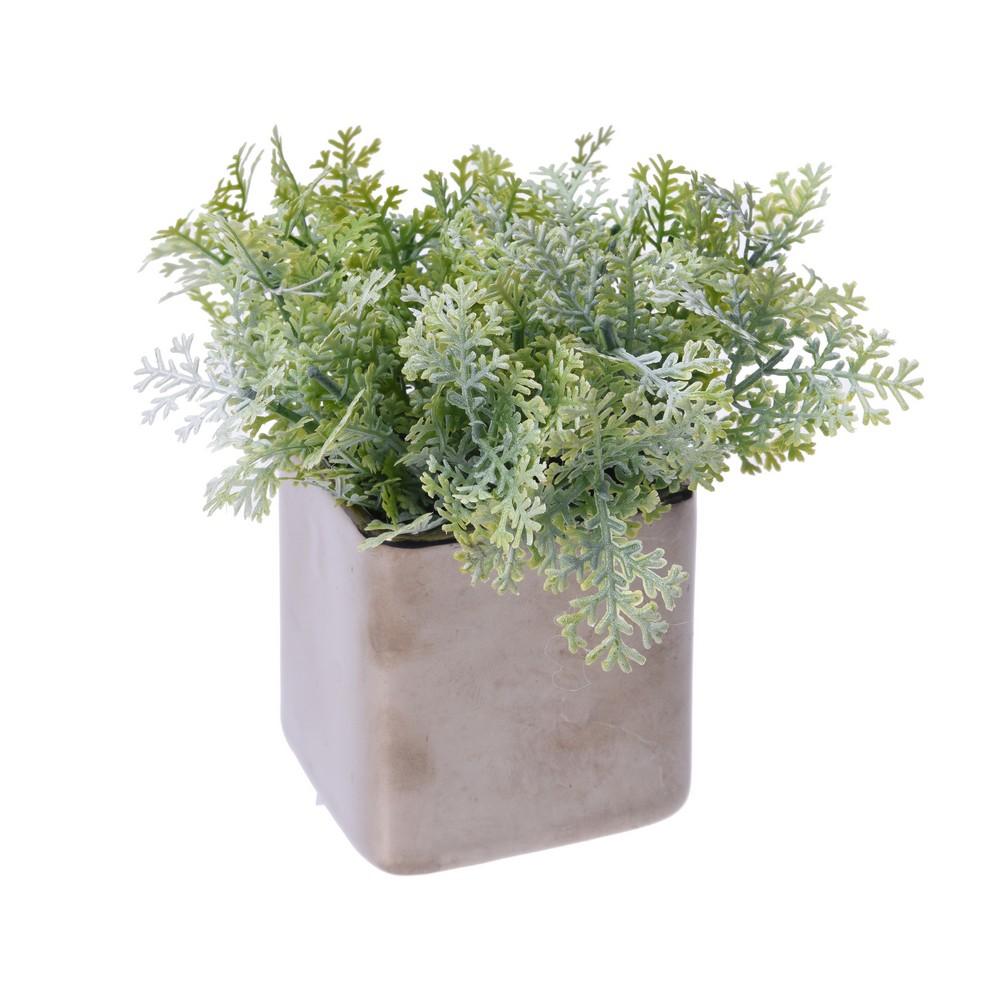 Planta artificial maceta grama