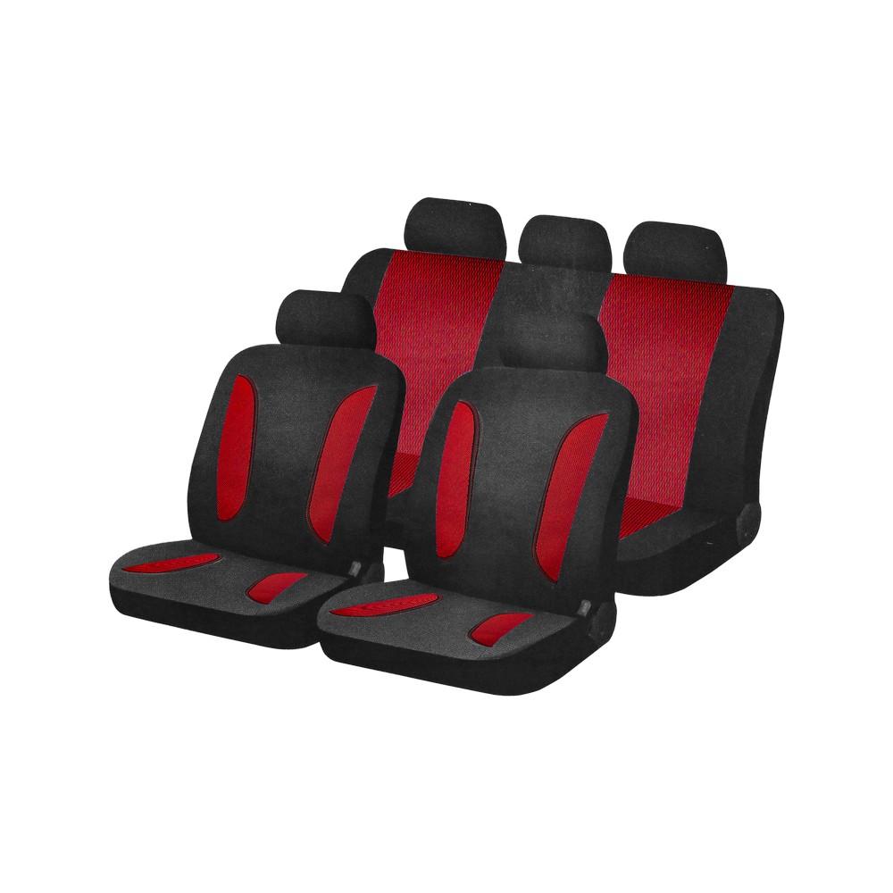 Forro negro y rojo para asiento de carro