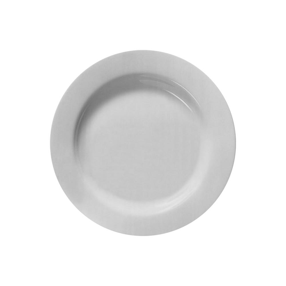 Plato de cerámica redondo blanco