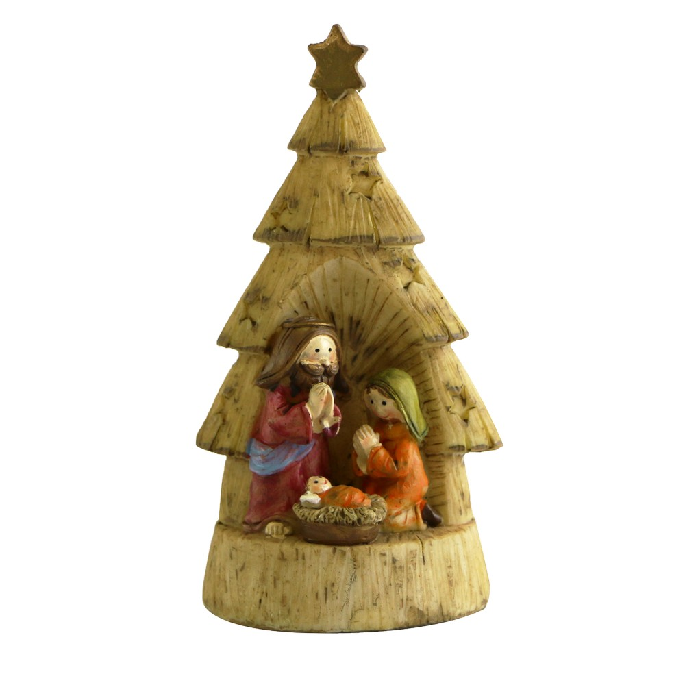 Nacimiento navideño con luz 7.5x6x14cm 2783-293818b