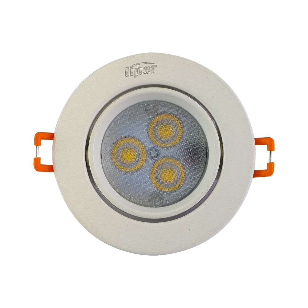 Panel led redondo 3w luz amarilla 100-240vac