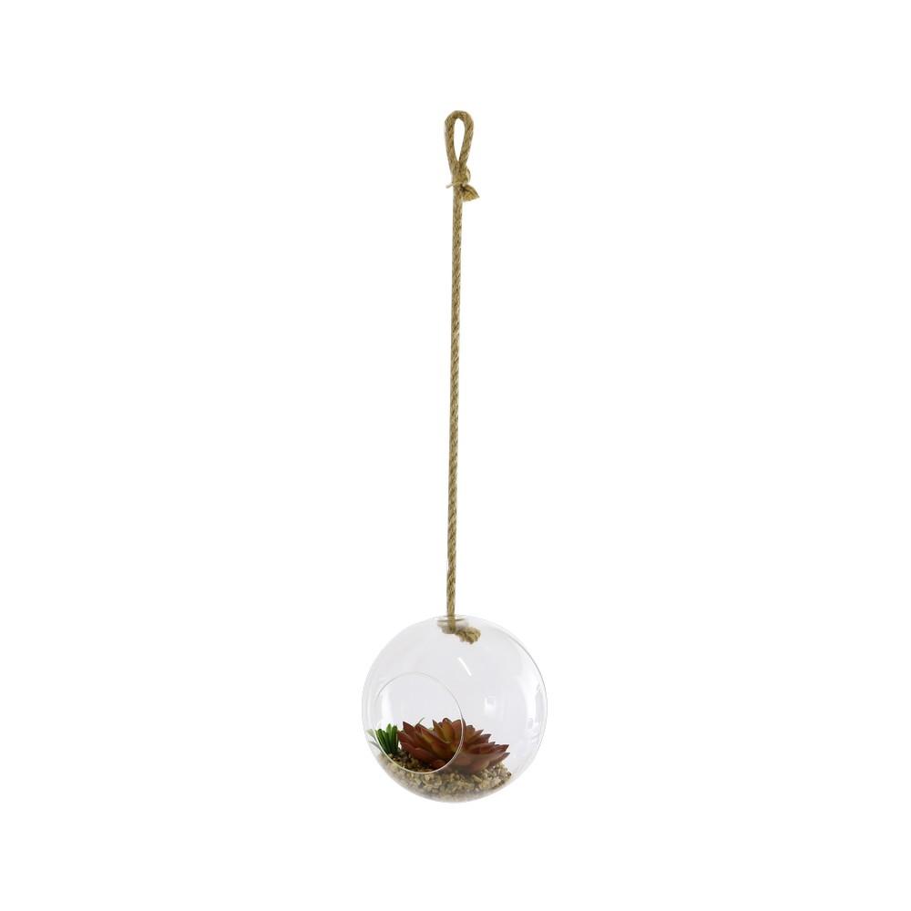 Planta artificial en bola de cristal