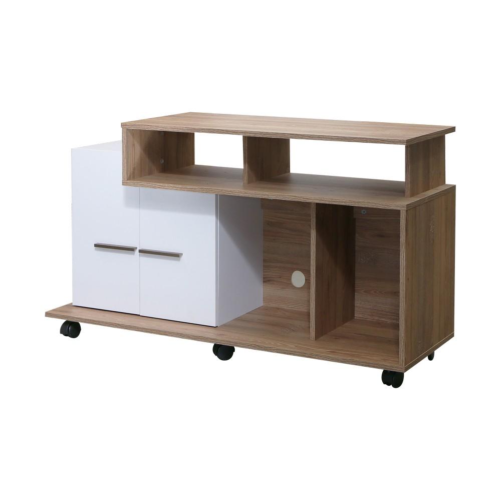 Mueble para tv 5o pulg miel blanco