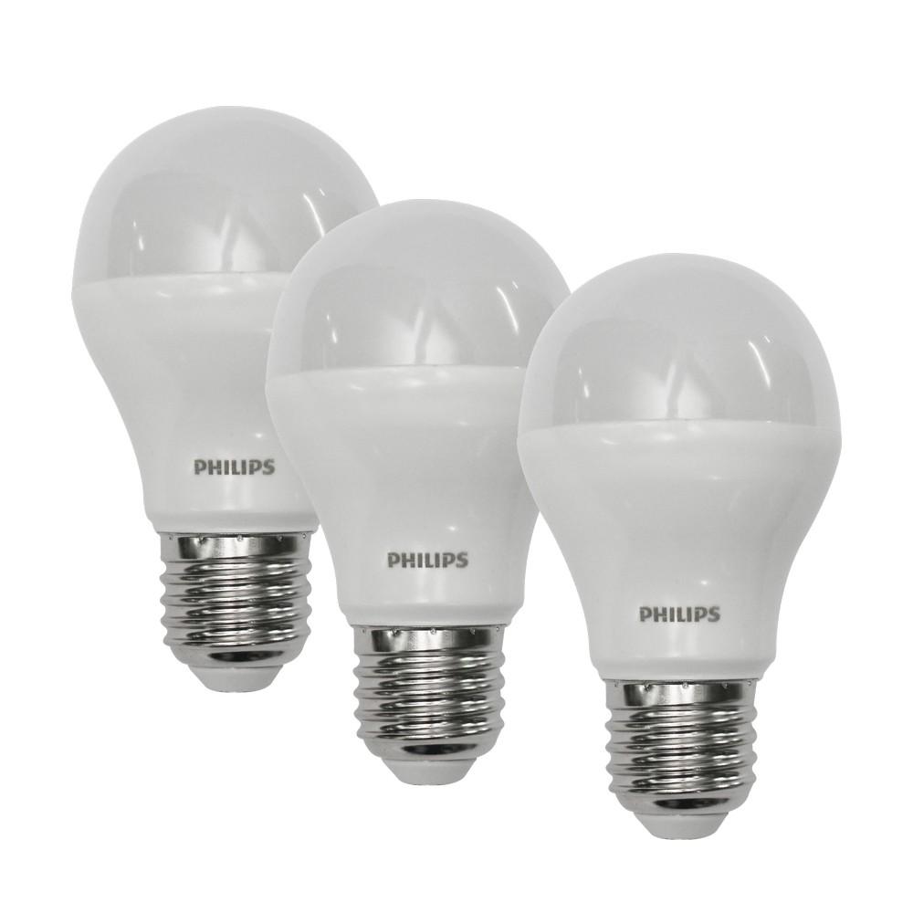 Foco led 10w e27 luz blanca set de 3 pzas