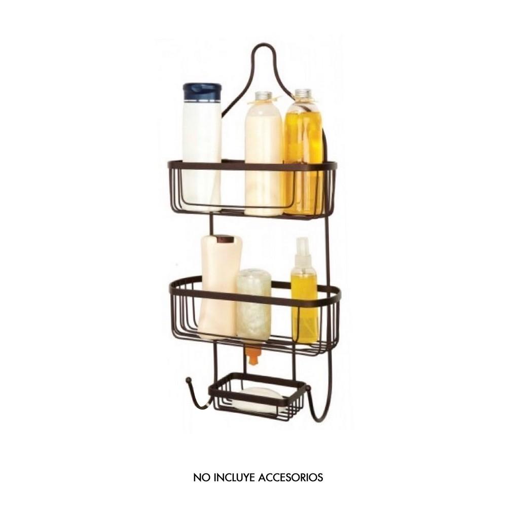 Organizador para ducha bronce