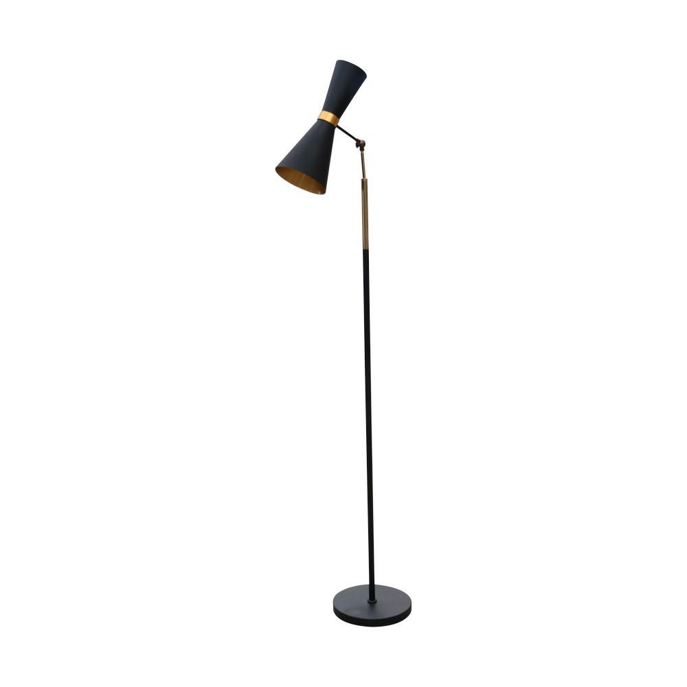 Lampara de piso 1l negro amte 152003f-1mbk/gd