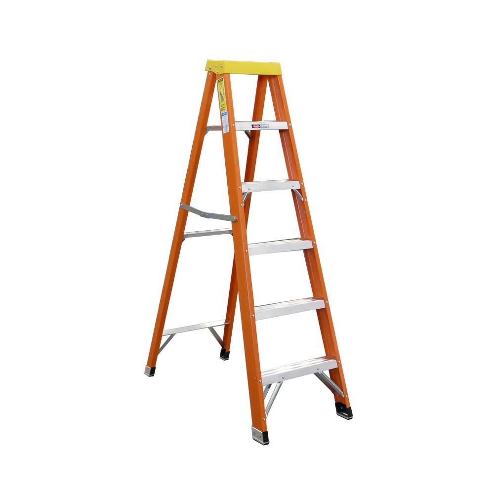 Escalera de tijera fibra de vidrio de 6 39 escaleras de - Escalera fibra de vidrio ...