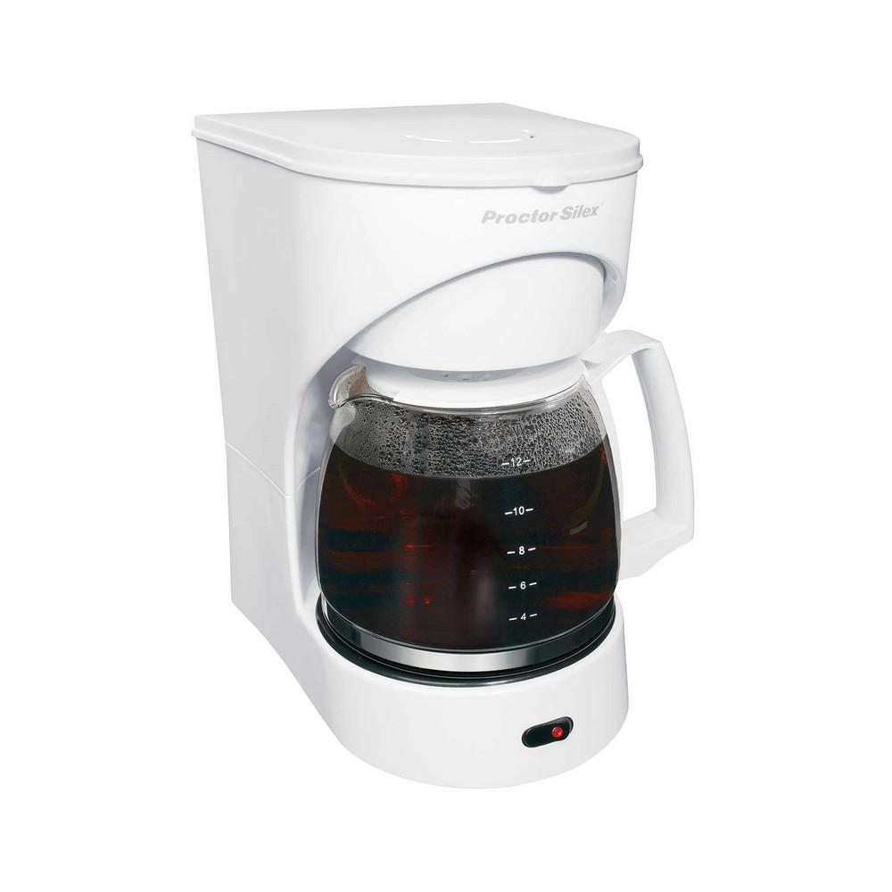 Cafetera eléctrica 12 tazas blanca proctor silex
