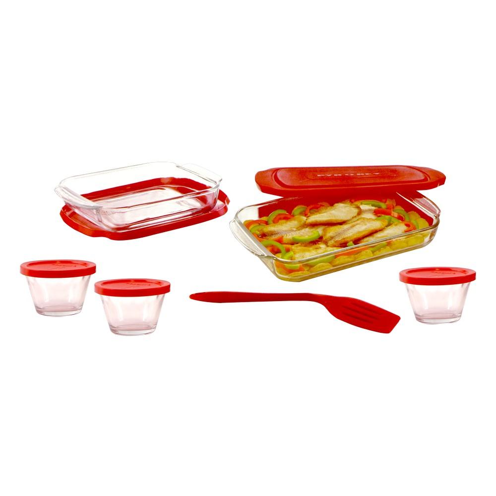 Deposito de vidrio para hornear con tapa libbey 1710889 s/13