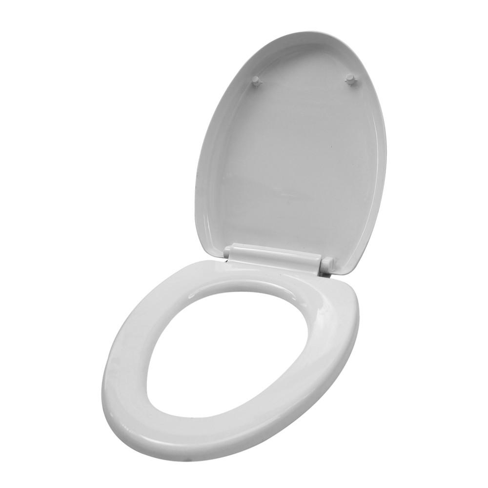 Asiento elongado para inodoro blanco