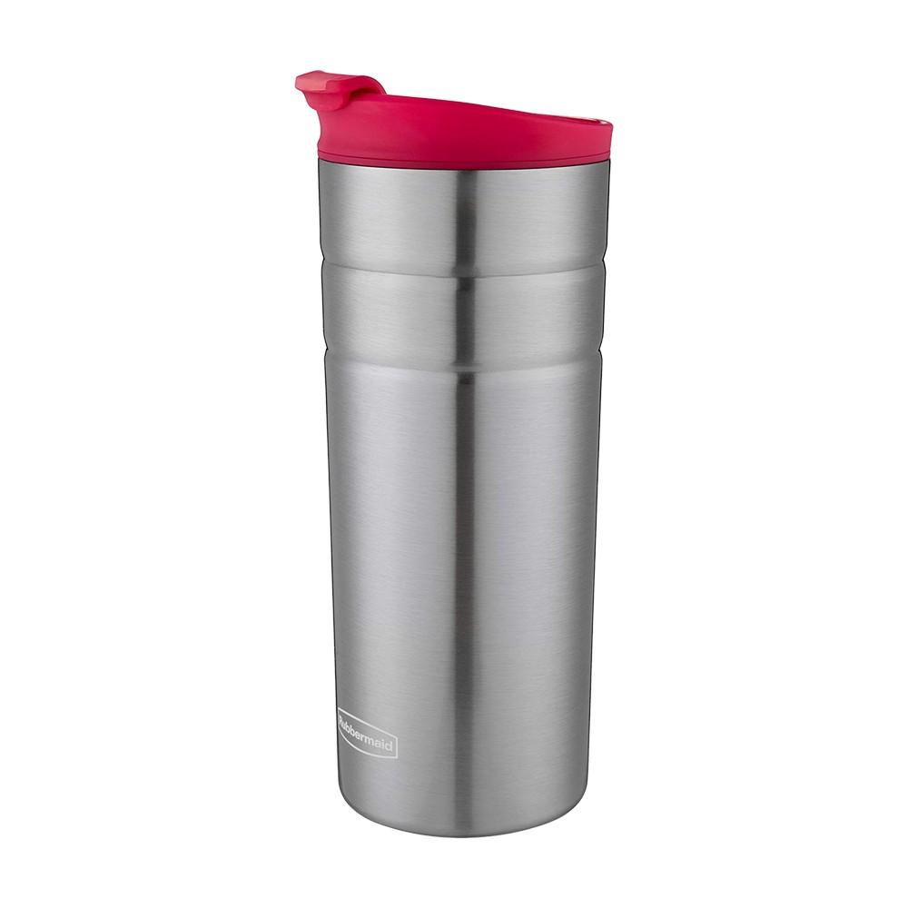 Taza térmica acero inoxidable 16 oz rosada