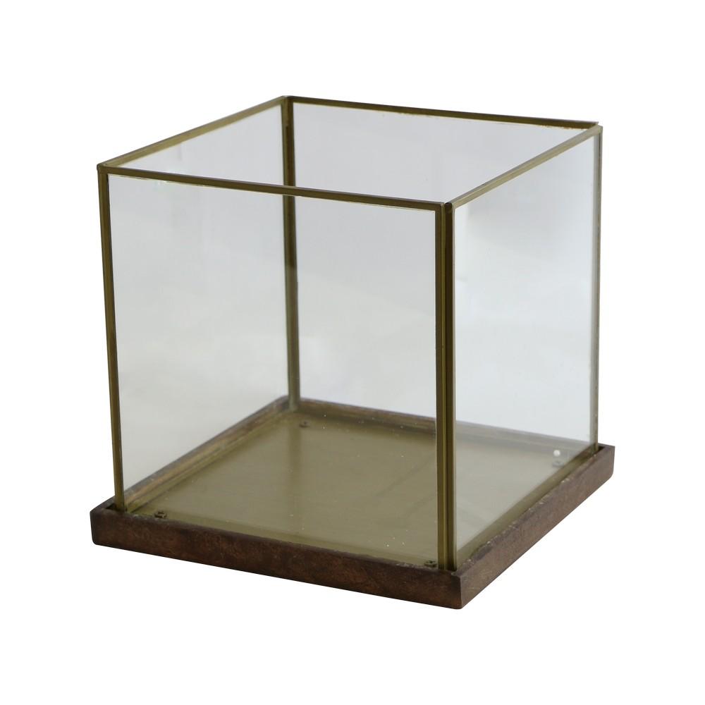 Portavelas 21x21cm dorado a04930720
