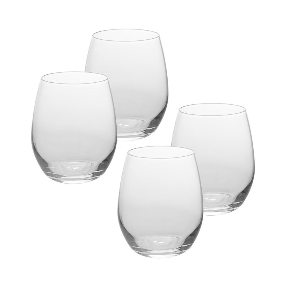 Copas de vidrio para vino sin base 13 oz 4 unidades