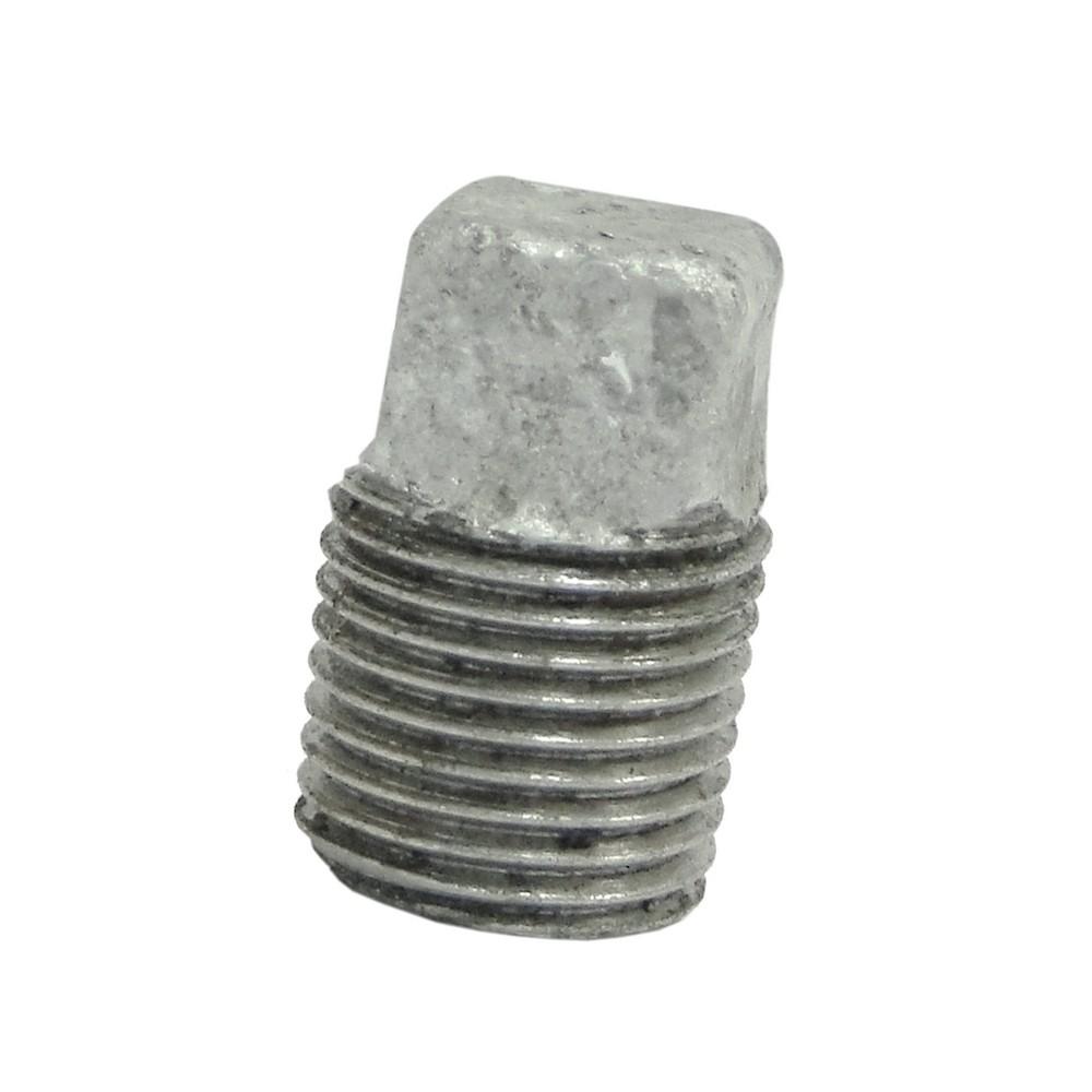 Tapón macho galvanizado de 1/8 pulg