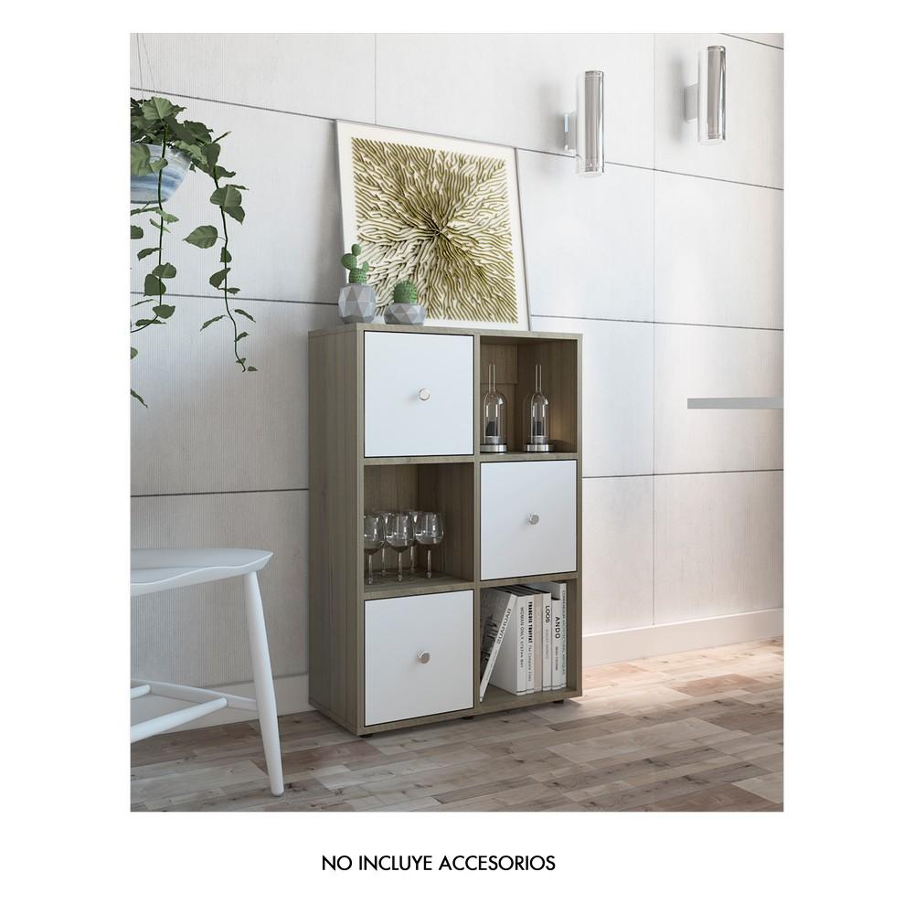 Mueble organizador multiuso espresso blanco