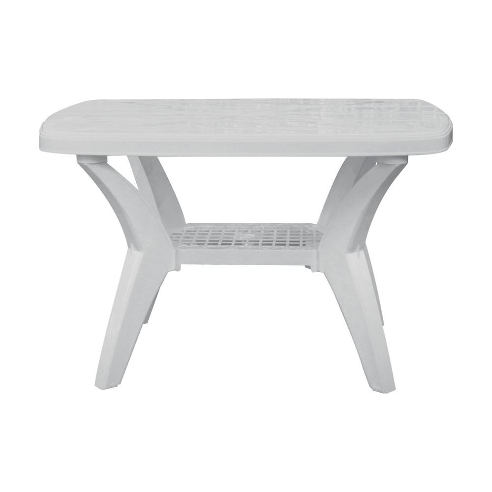 Mesa plastica rectangular blanca