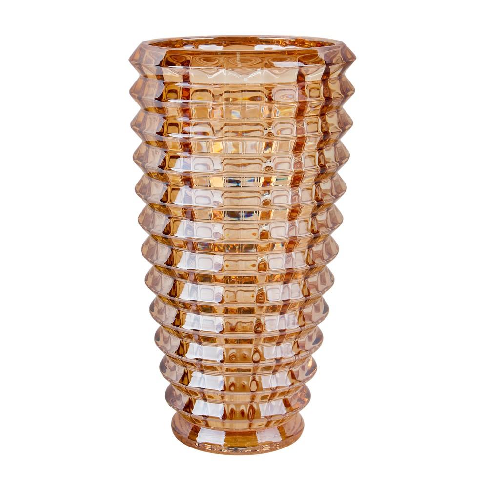 Florero de vidrio dorado 12.5 x 24.5 cm