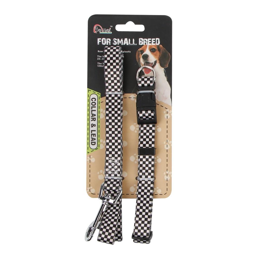 Set de collar y correa de nylon para perro talla s 2 pzas