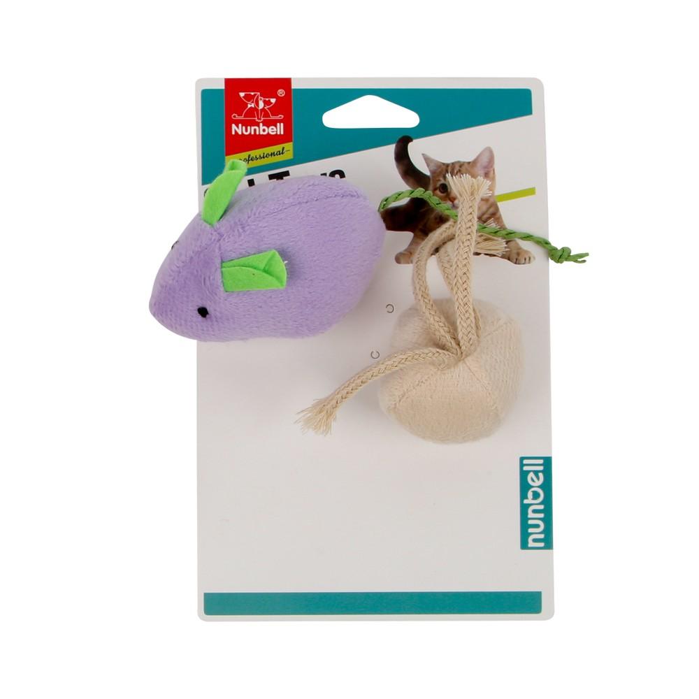 Juguete para gato raton de tela