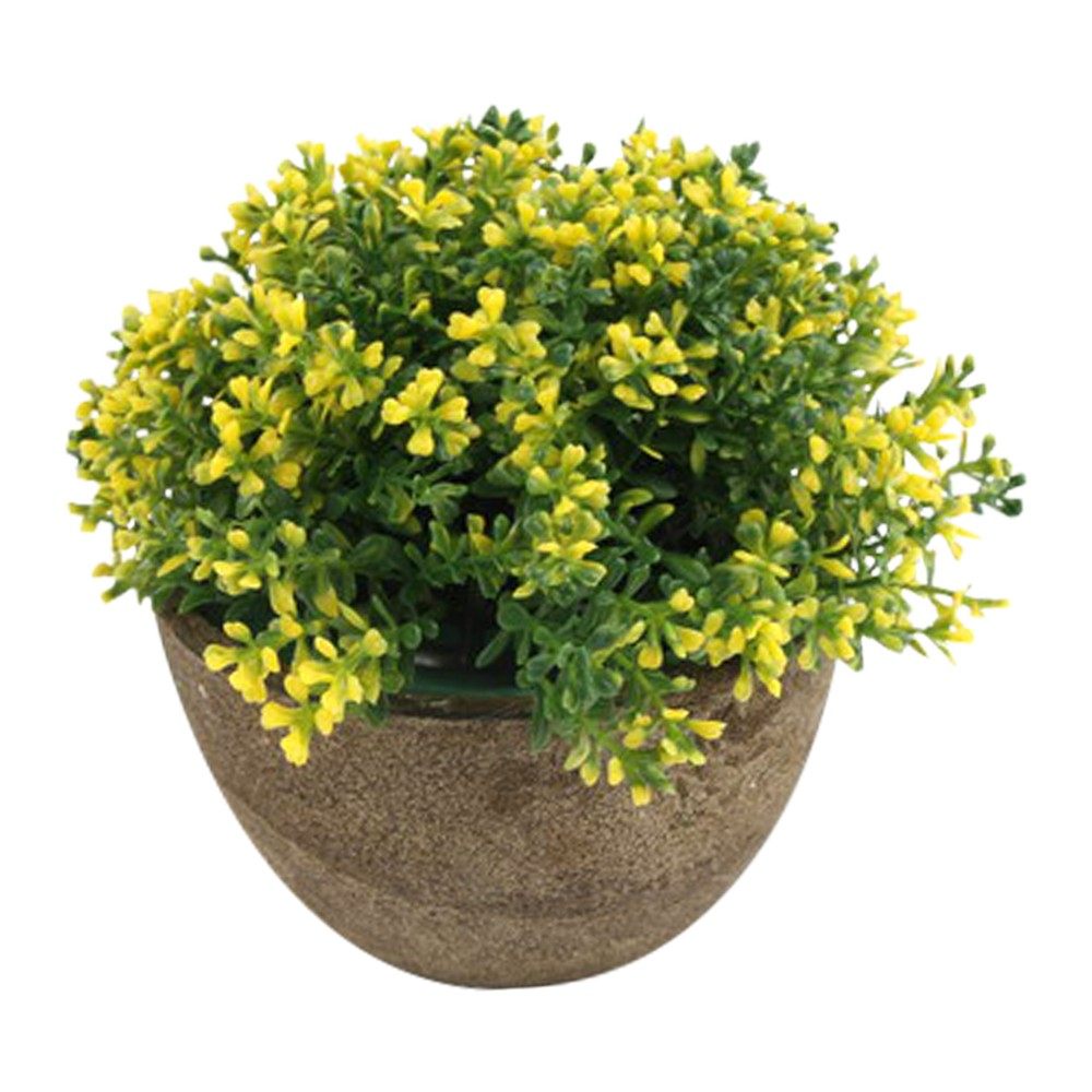 Planta artificial maceta barro con flores