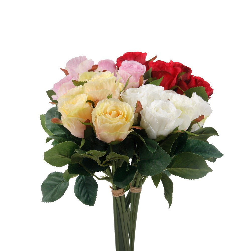 Flor artificial bouquet rosas