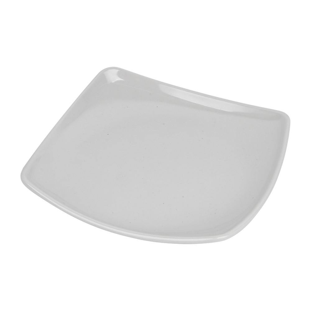 Plato de melamina cuadrado 15x15x2cm blanco