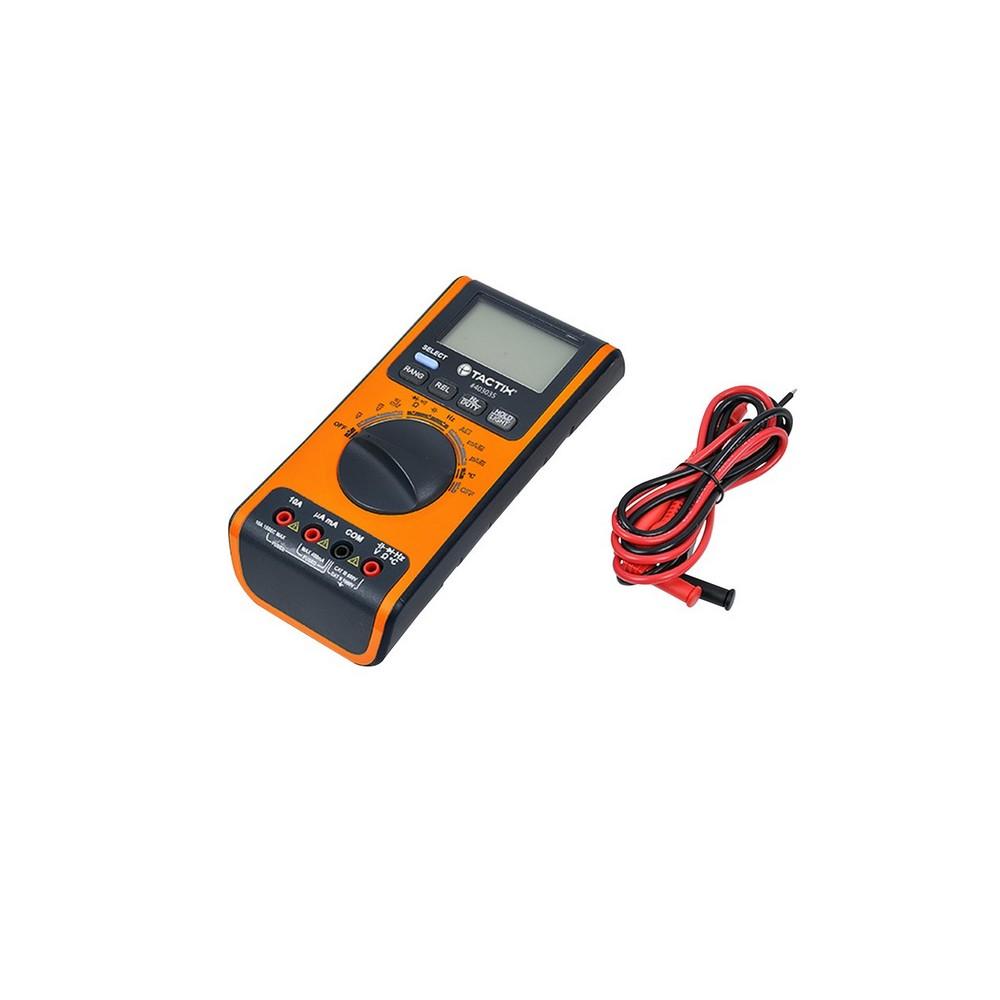 Tester digital 600vac/dc 10a con termometro