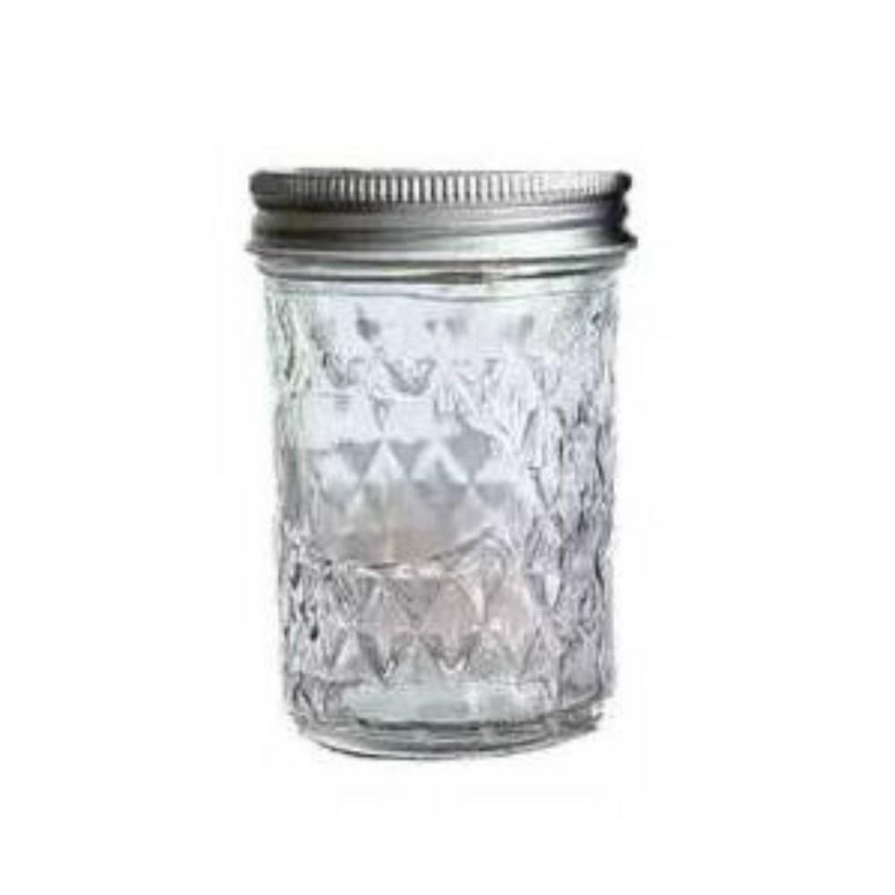 Deposito de vidrio con tapa al vacio 8 oz mason