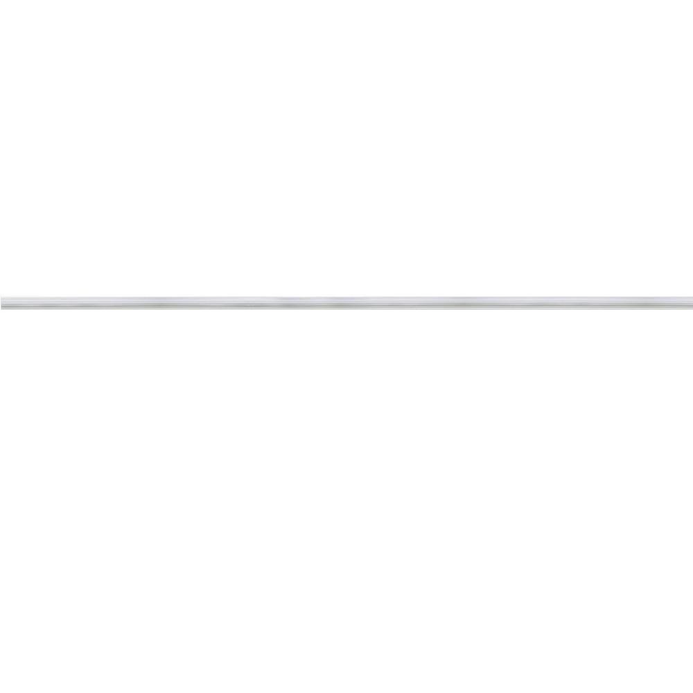 Riel de aluminio blanco para lámpara tipo track 1mt