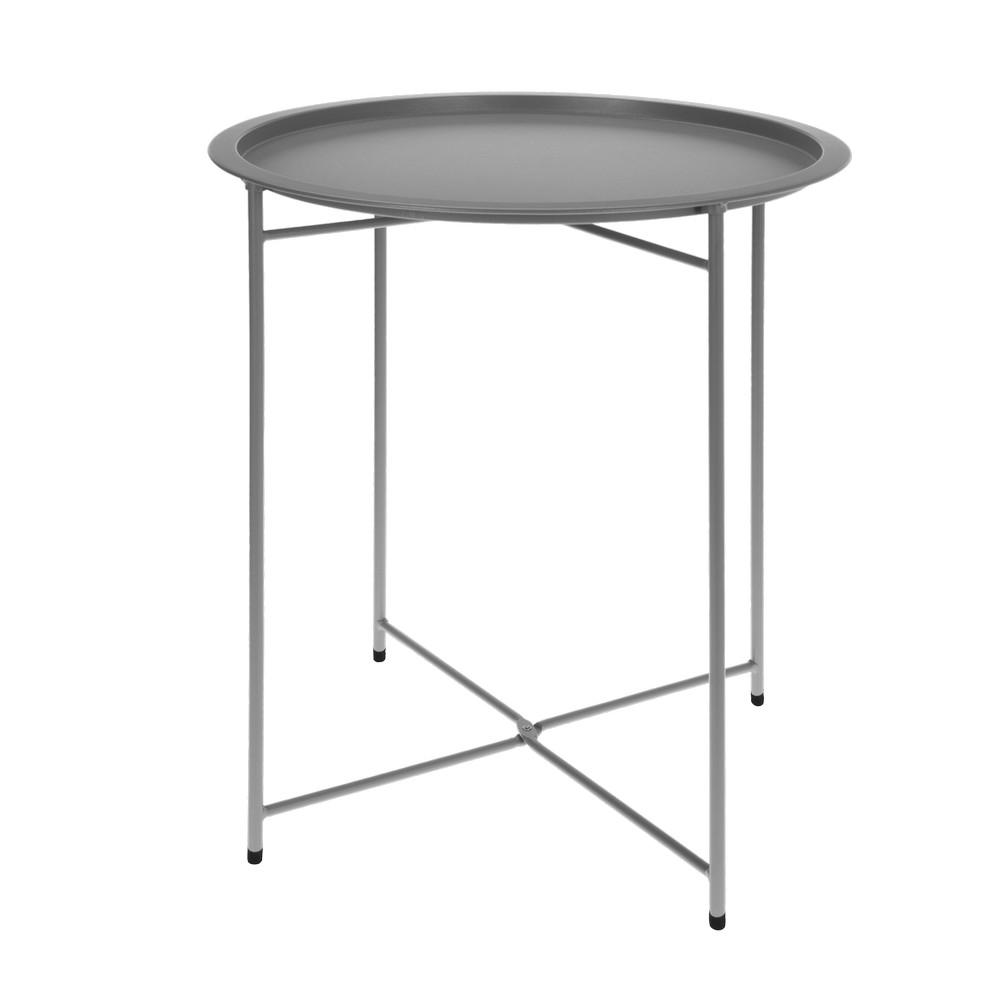 Mesa lateral metalica gris