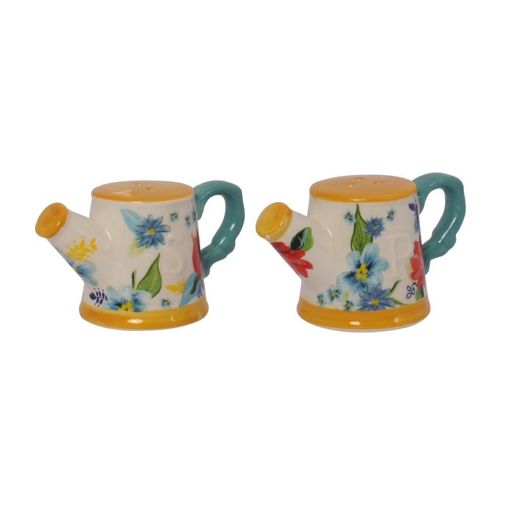 Set de salero y pimentero cerámica 2 pzas