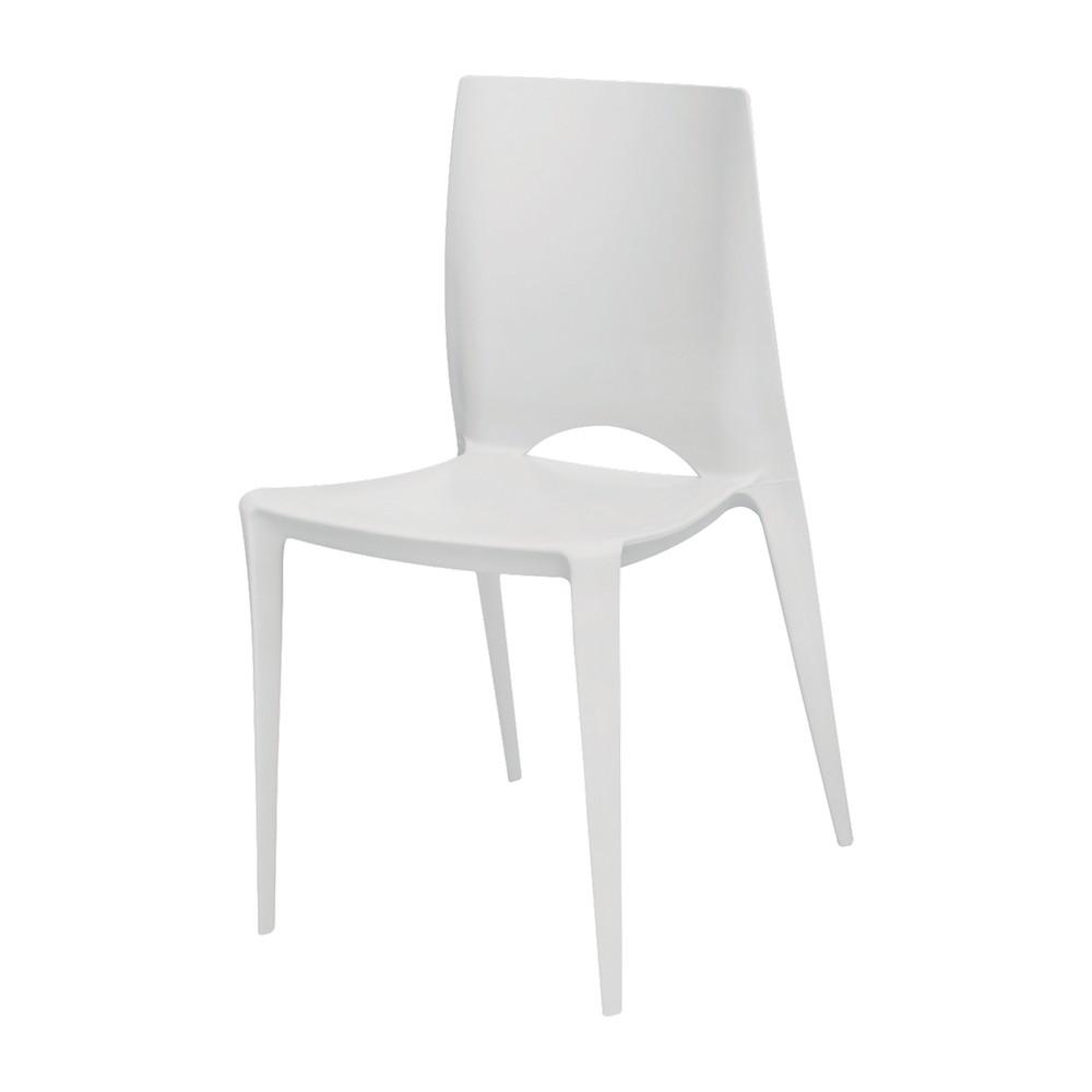 Silla moderna plastica blanca 142-app-01