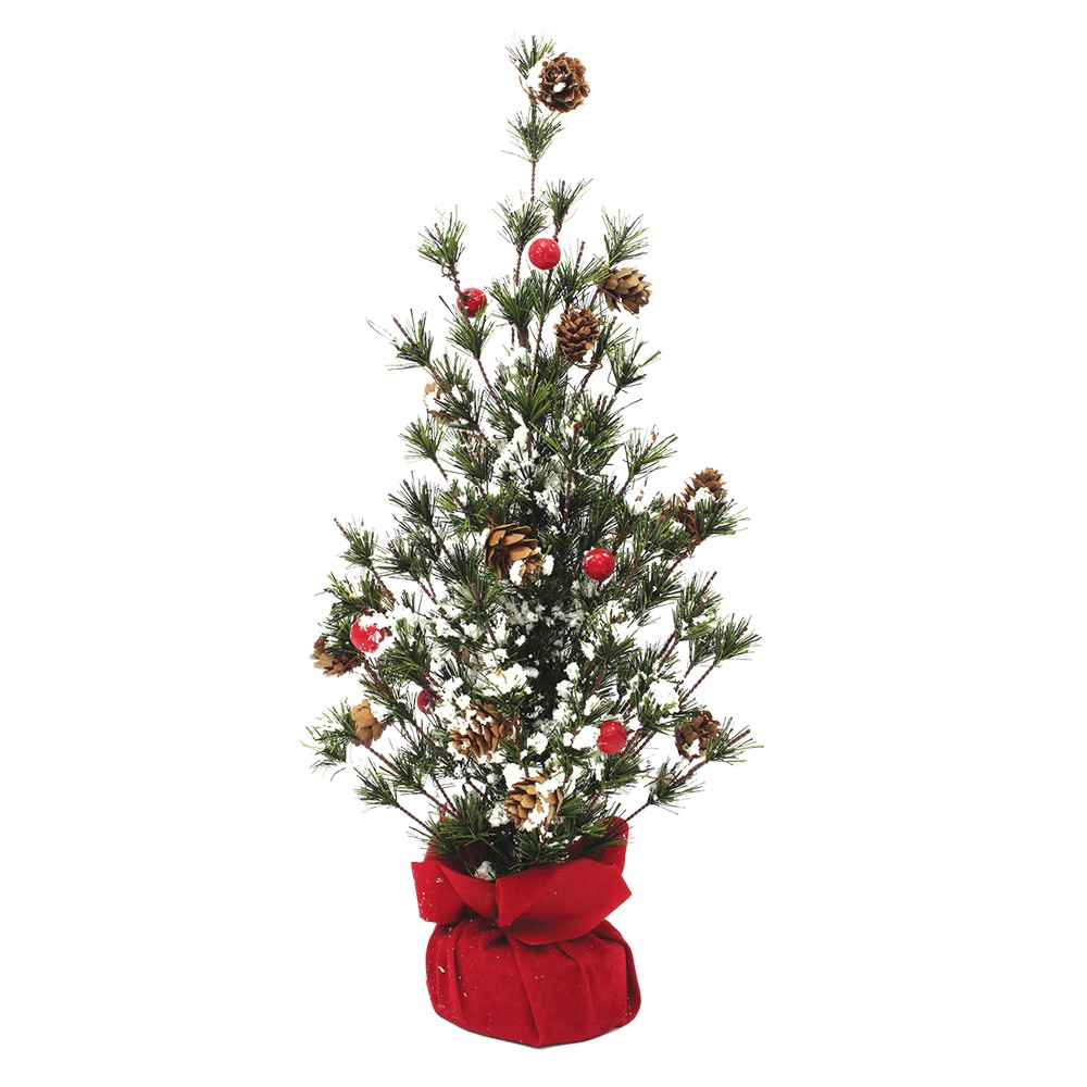 Arbol navideño mini con berries 2244