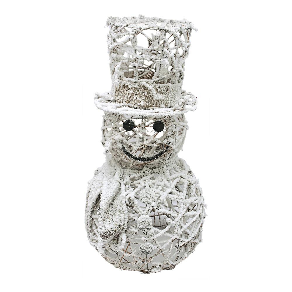 Adorno navideño muñeco de nieve con luz sz19119-13