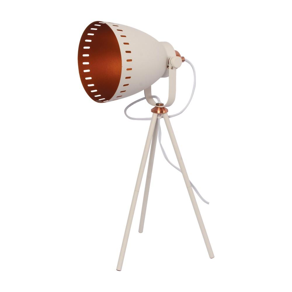 Lámpara de mesa metálica retro blanca