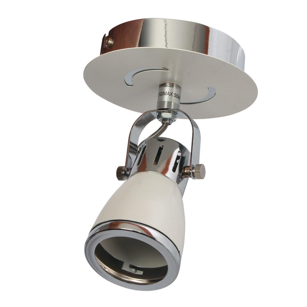 Lámpara spotlight metálica 1 luz blanca