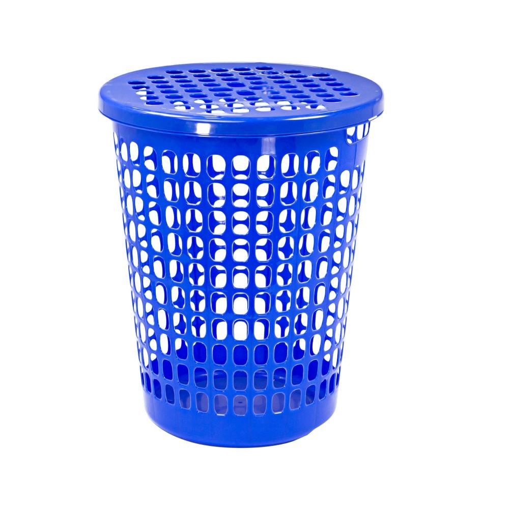 Canasta plastica para ropa con tapa